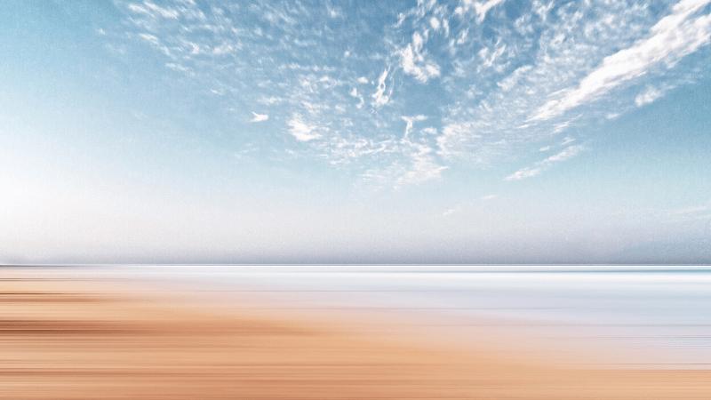 浜辺の青空画像