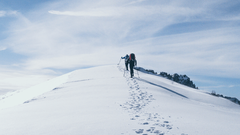 冬の山登り