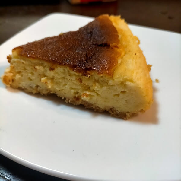 冷えたチーズケーキ
